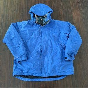 Vintage Nike ACG 2 In 1 Hooded Windbreaker Jacket Size XL Full Zip Blue Thermal.